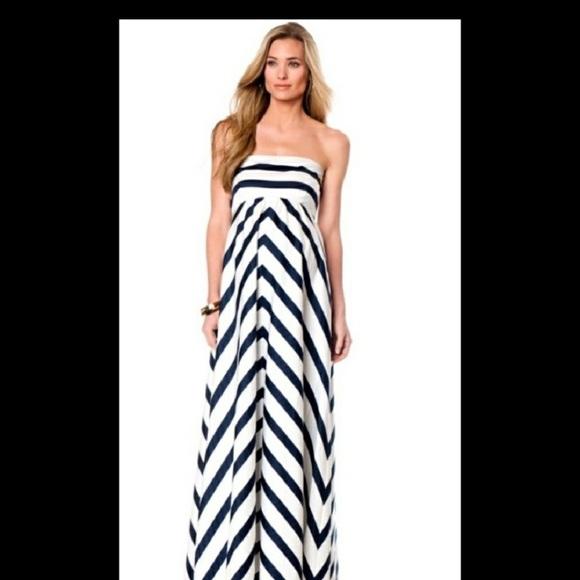 25d92df5bb609 Jessica Simpson Dresses & Skirts - Jessica Simpson Maternity Chevron Maxi  Dress Small